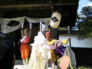 瑠璃寺の獅子舞